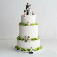 Children Figurines Blended Family Wedding Cake Topper
