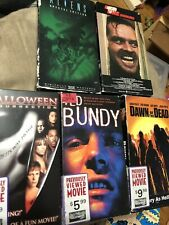 Horror VHS Lot Halloween Ted Bundy The Shining Aliens - Hollywood Video Rentals