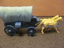 Vintage Marx Wagon Train blue covered wagon