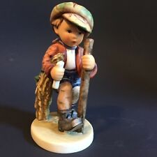 "M.I. Hummel ""On Secret Path"" #386 Boy Walking with a Walking Stick and a Candle"