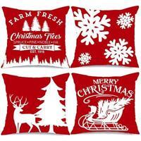 Weihnachten Kissenbezug Kissenbezug Kissenbezug Home Sofa Dekoration