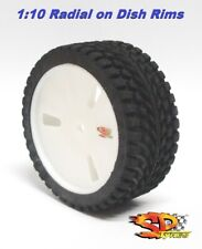 Tire 1:10 Touring Radial SP SOFT for Himoto Kyosho Tamiya VELOCITY WHITE 4pcs.