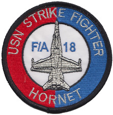 US Navy F/A-18 Hornet Fighter Jet Embroidered Patch ** LAST FEW **