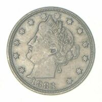 Historic - 1883 'NO Cent' Liberty V Nickel - Tough - First Year Issue VF/XF (1)