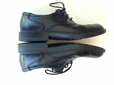ECCO Black Leather Oxford  Comfort  Shoes Mens 45 11 - 11.5 Shock Point