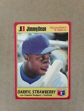 1991 Jimmy Dean Darryl Strawberry card #5. New York Mets.
