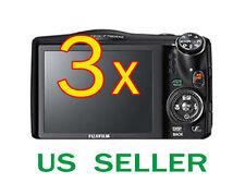 3x Fujifilm FinePix F750EXR Clear LCD Screen Protector Guard Shield Film