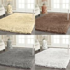 SMALL X LARGE SOFT PLAIN FLUFFY SHAGGY RUGS DINING ROOM MATS FLOOR CARPETS