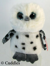 Owl Spotted Black White Stuffed Animal Plush Bird Wise Wings Fly Hoot  Ganz N