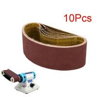 "10Pcs 3"" x 21"" Polishing Aluminum Oxide Sanding Belts Grinding Abrasive Tool 80#"
