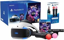 """Sony PlayStation VR """"Starter Pack"""" + VR Worlds Bundle Move Controllers + Camera"""