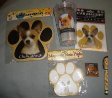 Tan Chihuahua Dog Mousepad Notepad Car Magnet Pen & Magnetic Charm Set Bundle