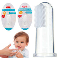2 Pc Baby Finger Toothbrush Gums Brush Toddler Infant Soft Silicone Rubber Clean