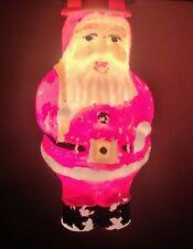 Vintage Christmas Figural Bulb Santa Claus Milk Glass Japan 3 Inches Working C-7