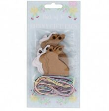 Lot de 16 Bunny Rabbit en forme de cadeau TAGS/ETIQUETTES naturel Carte Artisanat