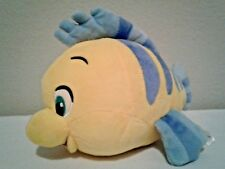Disney Store Flounder Plush The Little Mermaid Yellow Fish Stuffed Animal Toy