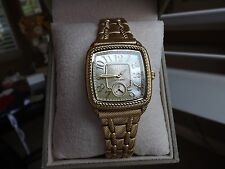 Judith Ripka Retired 14k Yellow Gold Clad Watch NIB Retail $299.00