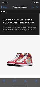 Nike Air Jordan 1 Retro High OG Light Fusion Red - UK8 - London