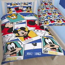 Mickey Mouse Polaroid Single Duvet Cover Bed Set Disney New Gift
