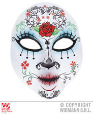 Máscara De Azúcar Calavera Día de Muertos mexicano Esqueleto Halloween Disfraz Accesorio