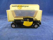 Extremely Rare and unusual Matchbox Yesteryear Y-24 Bugatti T44 Black & Yellow