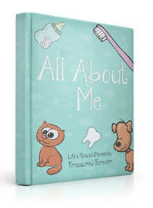 """Baby Memory Journal Book Record Memories """"All About Me"""" Special Moments 5 Years"""