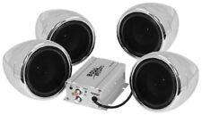 BOSS AUDIO 1000W 4-SPEAKER BLUETOOTH SOUND SYSTEM CHROME YAMAHA MOTORCYCLES ALL