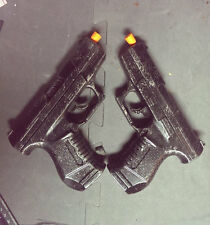 2x P99 Pistol Set Weathered Walther Gun Prop Costume Cosplay Punisher Underworld