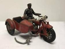 Antique Hubley Motorcycle and Sidecar