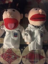 Lot Of 2 (Boy/Girl) Chevron Science Rocks! Plush Doll Toy Hand Puppet