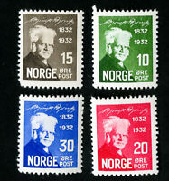 Norway Stamps # 132-5 VF OG NH Catalog Value $85.00