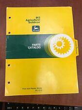 John Deere Parts Catalog 863 Agricultural Bulldozer #PC1510 (USED)