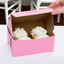 """10 Pink Bakery / Cake Box 6"""" x 4 1/2"""" x 2 3/4"""", Southern Champion 803"""