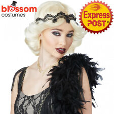W457 Blonde Glitz & Glamour Wig Gatsby 1920s Flapper Hollywood Costume Accessory