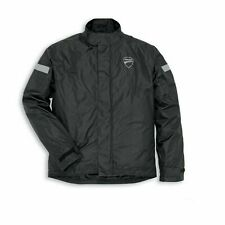 Ducati Strada 2 Motorcycle Rain Jacket, Black  (PACK AWAY AND WITHOUT BAGS)
