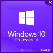 windows 10 pro 32-64 bits Instant delivery Genuine Key