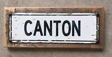 Canton Massachusetts Bulldogs Ponkapoag Vtg Style Framed Steel Sign Home Decor