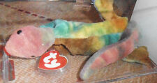 Authenticated Ty 3rd Gen Lizzy Tie-Dyed Beanie Striking Colors -Red Head