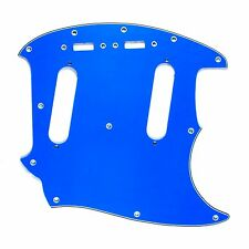 (E76) Custom Guitar Pickguard Fits Mustang Classic Series style ,4Ply Blue