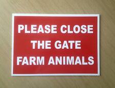Please Close The Gate, Farm Animals.  Plastic Sign.  (BL-71)