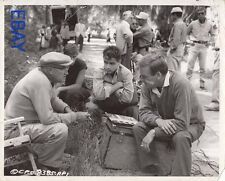 Director Alfred L. Werker Sal Mineo candid on set  VINTAGE Photo Young Don't Cry