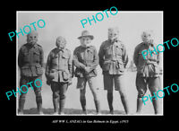 OLD LARGE HISTORIC PHOTO AUSTRALIAN MILITARY WWI AIF SOLDIERS IN GAS MASKS 1915