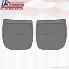 2002 2003 Ford F250 XL Work Truck Driver & Passenger Bottom Vinyl Seat Cover GRY
