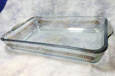 """Vintage Anchor Hocking  6"""" by 10"""" Glass Baking Dish Cake Pan"""