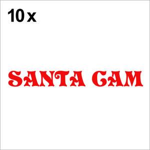 Santa Cam Christmas Sticker Vinyl Decal Xmas Decor