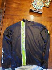 Cannondale Jacket Black and green fleece inside Men Size L large.Front Zip
