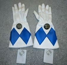 Vintage 1994 Mighty Morphin Power Rangers Gloves Blue - MMPR - Working