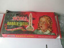 Vintage 1950s/60s Noma Bubble Lites Lights in box NICE 2 sets