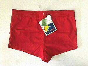 SPEEDO Boys Red Swim Racing 2 Pocket Trunks Shorts ~ Inner Pocket ~ NEW WITH TAG