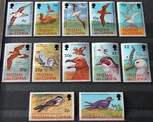 Tristan da Cunha 1977 Birds complete set of 12 to £2 MNH